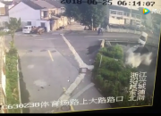 早上东浦车祸监控视频现场还原