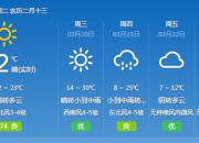 """?#23616;?#32461;兴的天频繁""""变?#22330;保?#26368;热一天气温将升到29℃"""