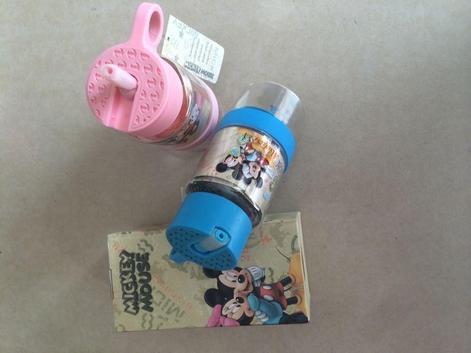 韩国正品hello Kitty柠檬杯包邮 KT猫米奇卡通儿童柠檬杯子