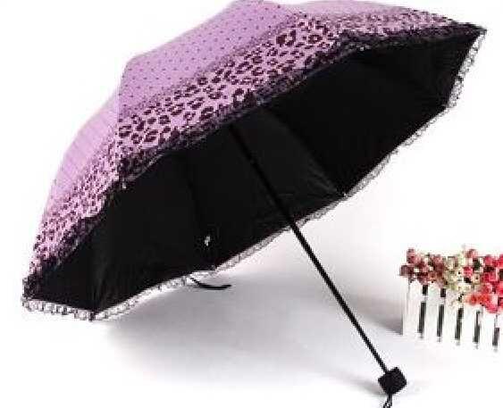 蕾丝豹纹遮阳伞