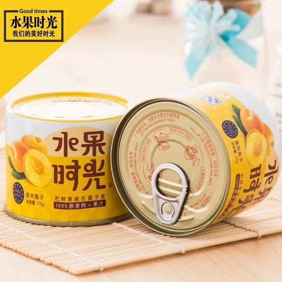 水果时光黄桃罐头