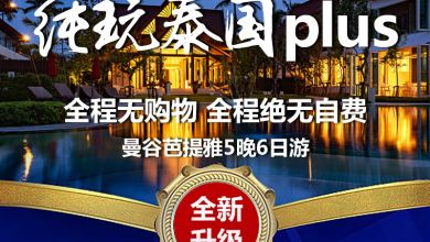[泰风光] 纯玩PLUS+泰国-5晚6日游(无购物,无自费)