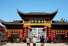 8月宁波南塘老街博地影秀城观中国首部航海主题秀--《港通
