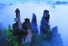 湖南张家界森林公园、黄石寨、湘西老腔晚会、夯吾苗寨、凤凰古城