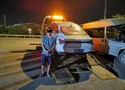 绍兴一司机撞货车后躲进树林,此前还撞了出租车